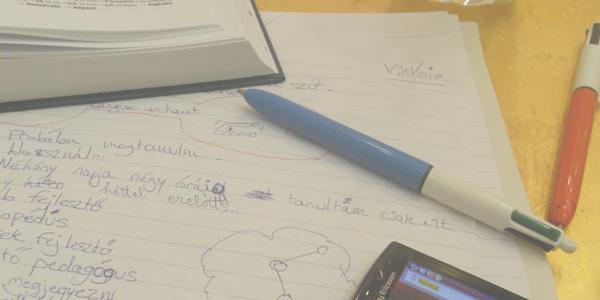 Photo de mes notes lorsque j'étudiais le hongrois