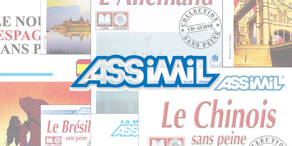 Assimil - Couvertures de méthodes Assimil en illustration